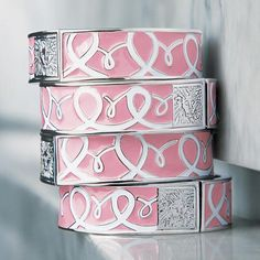 I can't wear bracelets, I am mostly putting this here because I think it is one of the most beautiful Breast cancer awareness bracelets I have ever seen!
