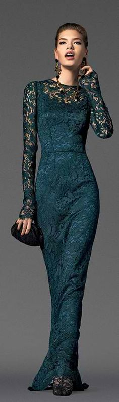 Dolce & Gabbana evening dress,fashion,dresses,gowns,green,style,girls,beautiful