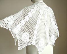Eco Wedding Wrap Capelet Recycled Vintage lace by WHITEStardust, $58.00