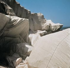Christo and Jeanne-Claude, Wrapped Coast, One Million Square Feet, Little Bay, Sydney, Australia 1968-69