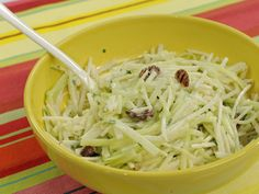 Get this all-star, easy-to-follow Jicama Cole Slaw recipe from Marcela Valladolid.  http://www.foodnetwork.com/recipes/marcela-valladolid/jicama-cole-slaw.html