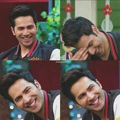 Seeing him laughing make me forget all my worries. Varun Dhawan Wallpaper, Alia And Varun, Deep Set Eyes, Tiger Shroff, Actors Images, Aamir Khan, Thanksgiving Outfit, Love You More Than, Bollywood Stars