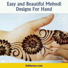 5 ➕ Awesome Designs 5 ➕ Awesome Designs,Pflege Related Vivid Earth Tattoo Designs and Ideas - TattooBloq - henna designs- henna Fascinating Karwa Chauth Mehndi Designs For Newlywed Brides -. Henna Tattoo Hand, Hand Mehndi, Henna Tattoo Designs, Henna Hand Designs, Mehndi Designs Book, Mehndi Designs For Girls, Modern Mehndi Designs, Simple Henna Tattoo, Mehndi Design Photos
