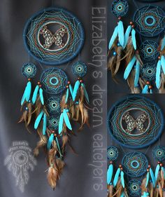 Dreamcatcher ocean dreamcatcher Indian talisman Blue color