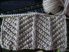 Knit-Purl Combinations: Pattern 3 - Herringbone Texture - Knitting Unlimited
