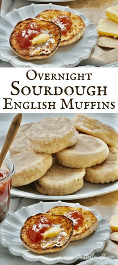 This traditionally fermented Overnight Sourdough English Muffin recipe gets stirred up before bed so you can wake up and Sourdough Starter Discard Recipe, Sourdough Recipes, Sourdough Bread, Bread Recipes, Sourdough Pancakes, Monkey Bread, English Muffin Recipes, English Muffin Breakfast, English Muffin Recipe Nooks And Crannies