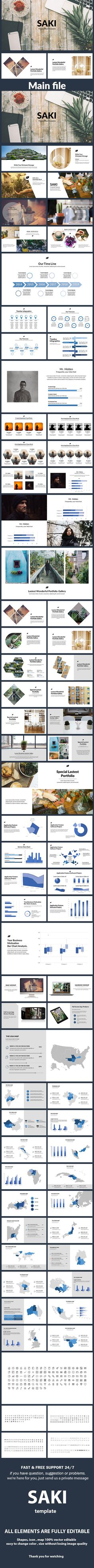 Saki - Google Slide Template - #Google Slides #Presentation #Templates Download here: https://graphicriver.net/item/saki-google-slide-template/19533694?ref=alena994