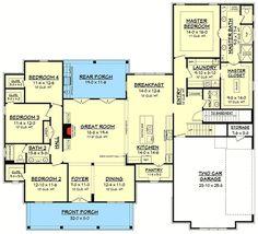 Modern Farmhouse Plan with Bonus Room - 51754HZ | 1st Floor Master Suite, Bonus Room, Butler Walk-in Pantry, CAD Available, Corner Lot, Country, Craftsman, Farmhouse, PDF, Split Bedrooms, Traditional | Architectural Designs