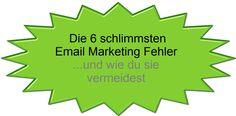 Wenn du eine Email Liste hast und mit dieser auch Geld verdienen möchtest, dann vermeide unbedingt diese 6 Email Marketing Fehler!