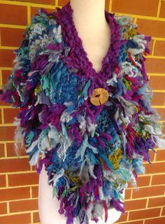 SALE The Scrap Wrap extra bulky art yarn handspun by plumfish
