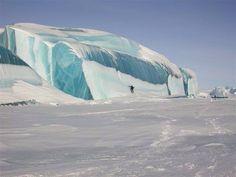 An Ice Wave from the floor of Lake Huron near Mackinaw Island