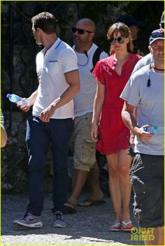 Jamie Dornan & Dakota Johnson Continue Filming 'Fifty Shades' in France After Attack: Photo #3707348. Jamie Dornan and Dakota Johnson walk side by side while on the set of Fifty Shades Freed on Friday afternoon (July 15) in Roquebrune-Cap-Martin, France.    The co-stars…