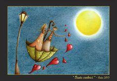"""""""Basta crederci"""" Pastelli su carta di Evita Cantoni"""