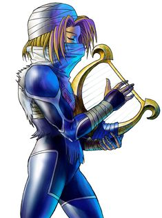 Sheik & Harp - The Legend of Zelda: Ocarina of Time 3D