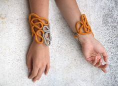 Searching on etsy I saw this odd but modern piece of jewelry. I love it! So cool!