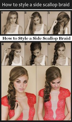 How to style a side scallop braid.