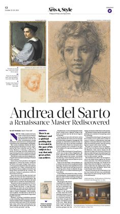 Andrea del Sarto—a Renaissance Master Rediscovered|Epoch Times #Arts #newspaper #editorialdesign