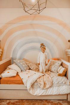 Big Girl Bedrooms, Little Girl Rooms, Girl Toddler Bedroom, Toddler Room Decor, Rainbow Girls Bedroom, Purple Toddler Rooms, Kids Decor, Girl Kids Room, Kids Bedroom Girls