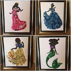 button Art disney   Disney-Inspired-Princess-Aurora-Cinderella-Ariel-And-Snow-White-Button ...