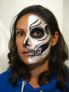 half face sugar skull - Google Search