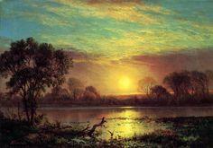 Evening, Owens Lake, California - Albert Bierstadt - WikiArt.