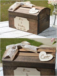 burlap and lace wedding decor / #rusticwedding #countrywedding #wedding #weddingideas http://www.deerpearlflowers.com/creative-wedding-card-box-ideas/