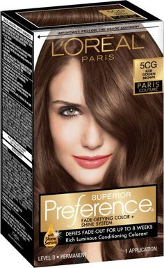 Discover Superior Preference Fade-Defying hair color & shine system by L'Oréal. Over 50 luminous hair color shades with care supreme conditioning treatment. Brown Hair With Highlights, Brown Hair Colors, Blonde Highlights, Chocolate Brown Hair Dye, Mocha Hair, Loreal Hair, Hair Color Shades, Hair Colour, Balayage Brunette