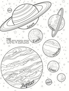 Planet Coloring Pages To Print