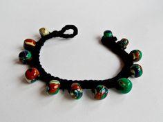 Crochet & Colourful Polymer Clay Bracelet Polymer Clay Bracelet, Beaded Necklace, Crochet, Bracelets, Color, Jewelry, Fashion, Beaded Collar, Moda