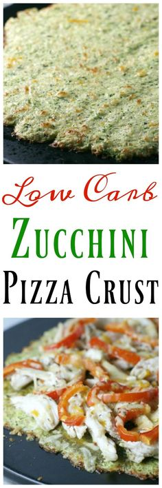 Low Carb Zucchini Pizza Crust. Enjoy pizza on a low carb lifestyle! Keto, 21 Day Fix, Gluten Free, Grain Free, Low Carb, Sugar Free