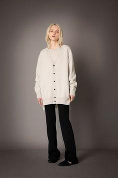 2021-22 A/W 018, Finest Cashmere Combination Knit Sweater FRC-K01-900, Finest Cashmere Combination Knit Cardigan FRC-K02-900, Washable Wool Rib Knit Straight Pants FRC-P12-903 Knit Cardigan, Rib Knit, Cashmere, Normcore, Tunic Tops, Wool, Knitting, Sweaters, Pants