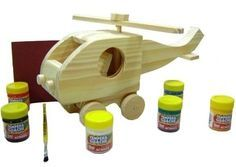 Helicóptero M (Pinus) - Gafeti Brinquedos Educativos