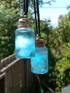 Clouds in a jar necklace by FoxMod on Etsy, $5.00