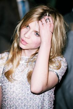 Clémence Poésy in Temperley London Spring 2013