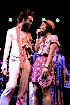 "Alex Ebert and Jade Castrinos aka Jade and Alexander of ""Home"" - Edward Sharpe & the Magnetic Zeroes"