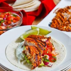Chipotle Lime Fish Tacos-These chili and lime fish tacos are a great light and healthy change from regular tacos.