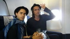 Jared Leto, Brandon Boyd. Almost too much awesome for one picture.