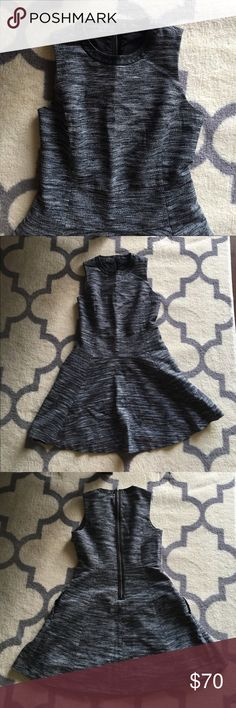 """Anywhere Dress in Tweed This is a reposh. Like new condition. No flaws to note.  Brilliantly structured and in a zigzag weave, this simple but special dress is one you can reach for again and again (trimmed in leather, it's a fresh update to our best-selling style). Genius with ankle boots or sneakers.  True to size, waisted. Falls 33"""" from shoulder Cotton/acrylic/poly. Pockets. Machine wash. Madewell Dresses Mini"""