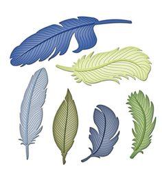 Shapeabilities Feathers Die Templates by Spellbinders