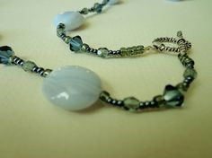 Just a Touch of Blue in this Blue Lace Agate by BlueRidgeBijoux, $43.00