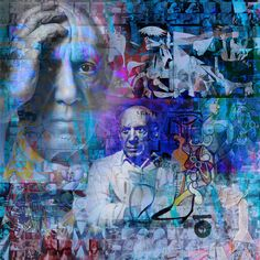 Picasso - 95 x 95 cm - Digigraphie originale sur toile