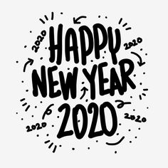 Happy New Year 2020 Hand Lettering Text - Trend Hozier Quotes 2019