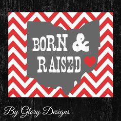 Ohio State Buckeyes Nursery Printable Born & by glorydesigns, $6.00