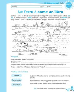 luni e tuni School Life, Back To School, History For Kids, Learning Italian, Teaching History, Problem Solving, Elementary Schools, Studio, Worksheets