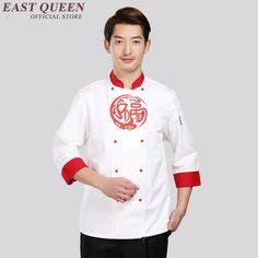 6-Color Men Women Chef Short Coats Cook Clothes Food pastry Uniform t-shirt B004