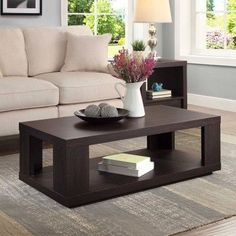online shopping for Better Homes Garden Steele Coffee Table, Espresso Finish (Espresso Finish) from top store. See new offer for Better Homes Garden Steele Coffee Table, Espresso Finish (Espresso Finish) Coffee Table Rectangle, Diy Coffee Table, Coffee Table With Storage, Decorating Coffee Tables, Table Storage, Wood Storage, Centre Table Design, Tea Table Design, Table Designs