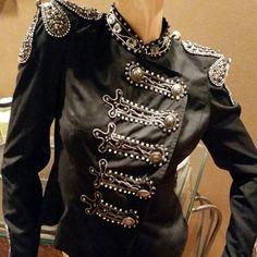 Military style black studded coat Brand new Karlie Jackets & Coats Blazers