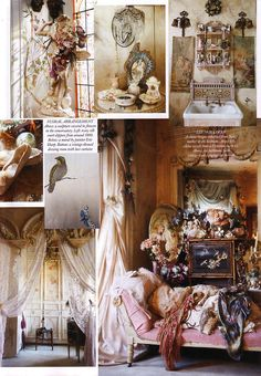 Virginia Bates: The Vintage Queen. Scanned by me from Harpers Bazaar May Had to scan this in when I saw it, literally the most beautiful house I have ever seen, imagine living somewhere that. French Bohemian, Virginia Homes, Boho Home, Romance, Bohemian Interior, Girl House, Elle Decor, Vintage Decor, Decoration