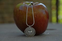 Apple for the Teacher.....Hand stamped pendant by SophiesCloset, $42.00