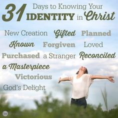 Do you know your identity as a Christian? It's pretty amazing, once you really study it. In this series, we look at what it really means to be a Christian and how that changes you at your very core. #write31days